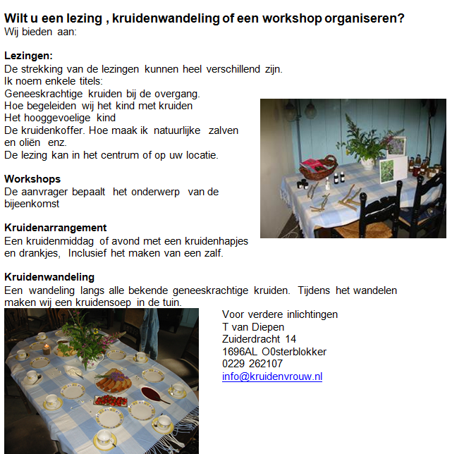 Lezingen/Workshops